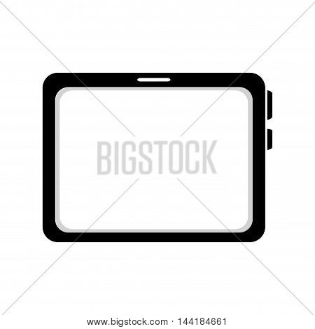 tablet device screen touch technology computer vector  illustration