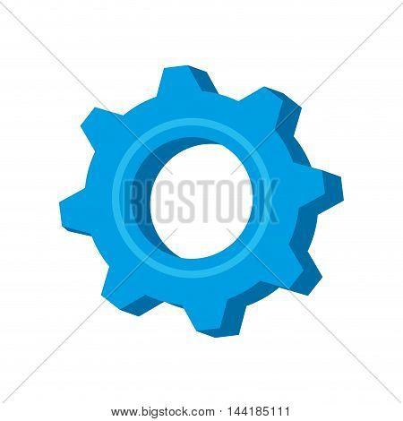 gear or cogwheel mechanic device equipment vector illustration