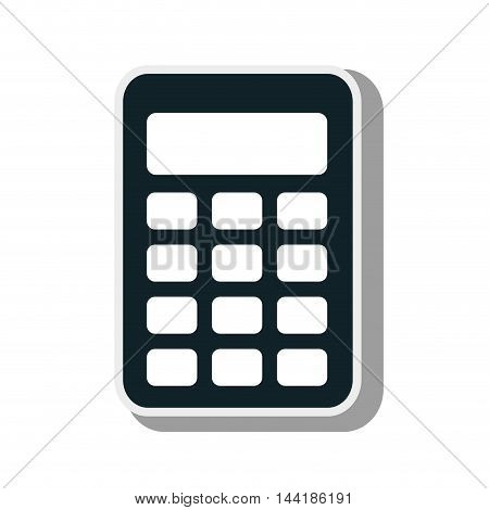 calculator maths tool numbers technology device  vector illustration