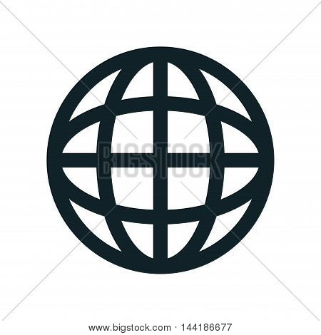 global earth connection corporation globe symbol vector illustration