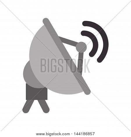 communication transmitter antenna signal waves vector illustration
