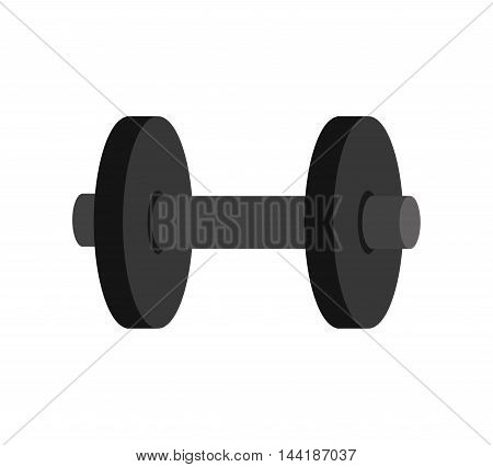 gym dumbbells heavy weights sport and fitness equipment vector illustration