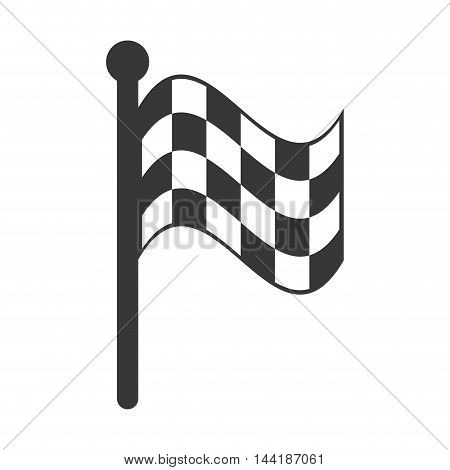 flag checkered race icon formula racing competition vector illustration