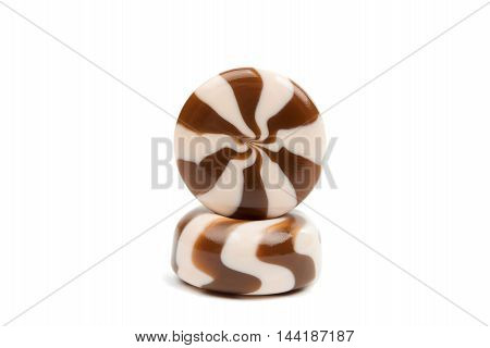 candy color  spiral on a white background