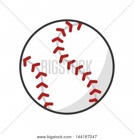 baseball baseball port fun game exercise and fitness activity vector illustration