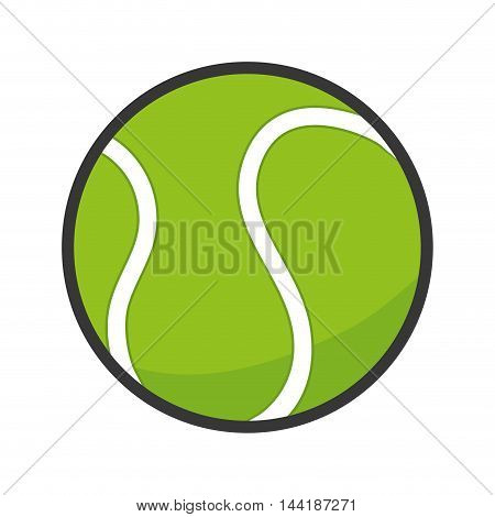 tennis ball sport fun game exercise and fitness activity vector illustration