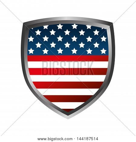 usa shield united states of america flag patriot symbol vector illustration