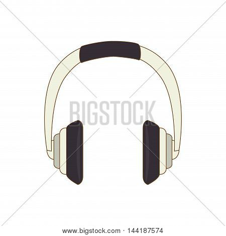 music headphones technology and electronic device vector illustration