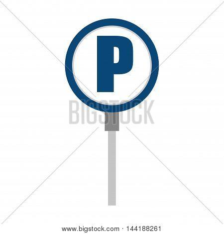 parking zone car vehicle street symbon signal vector illustration