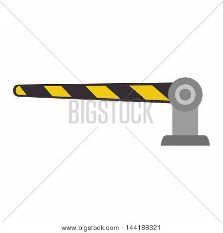 car zone parking barrier element regulation vector illustration