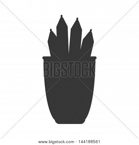 work office desk utensils workplace objects vector illustration