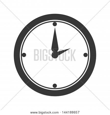 clock work office desk utensils workplace objects vector illustration