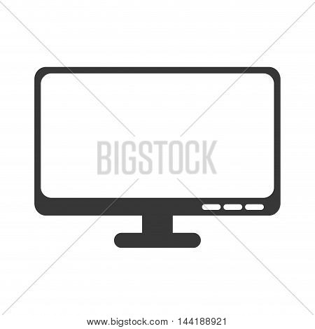 monitor screen computer technology and electronic device vector illustration
