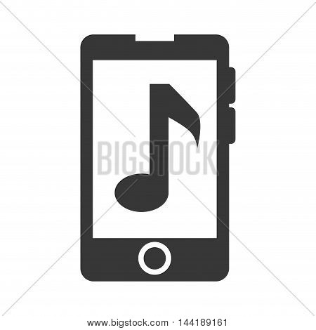 smartphone music media technology and electronic device vector illustration