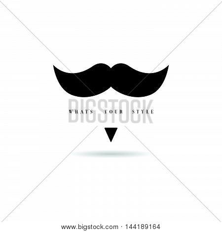 Mustache Style Icon In Black Color Illustration