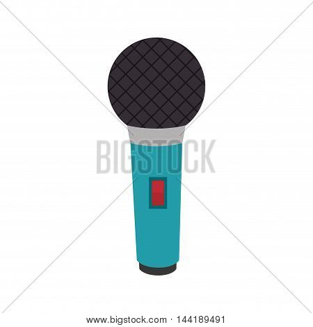 microphone karaoke communication device retro object vector illustration