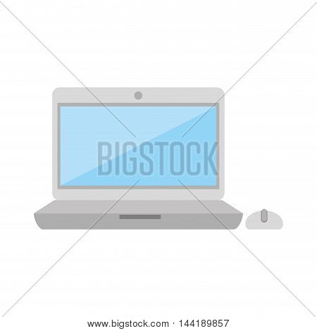 laptop screen computer technology and electronic device vector illustration