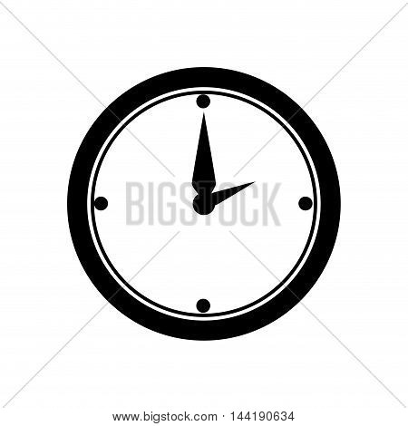 clock time work office desk utensils workplace objects vector illustration
