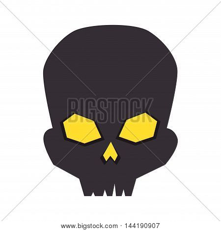 skull halloween season horror and fear decoration vector illustration