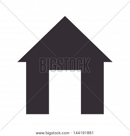 house building property real estate silhouette vector illustration