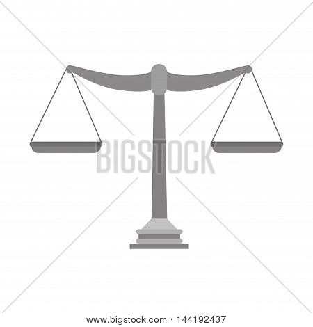 scales law and justice symbol weight equal legal sentence vector illustration