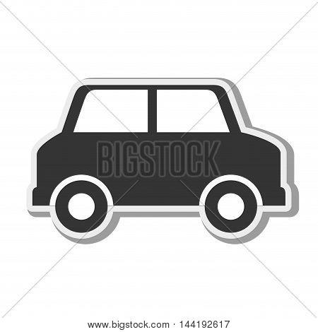 car vehicle silhouette transportation automobile side view vector illustration