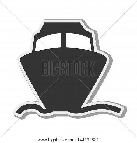 cruise marine transportation vehicle nautical navigation front view vector illustration