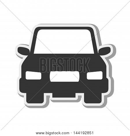 car vehicle transportation automobile front view silhouette vector illustration