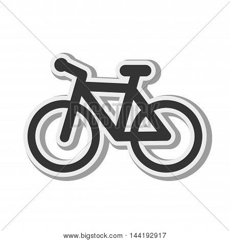 transport vehicle bicycle bike healthy and fitness exercise vector illustration