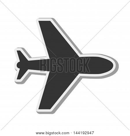 airplane silhouette travel transportation flying vector illustration