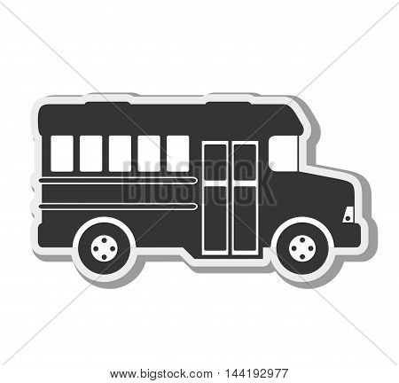 transport vehicle bus urban travel transportation silhouette vector illustration