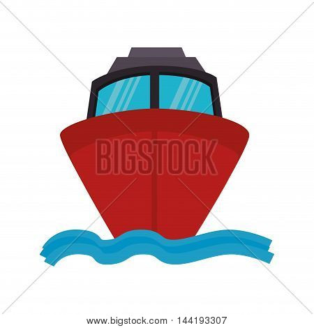 cruise marine transportation vehicle nautical navigation front view vector illustration