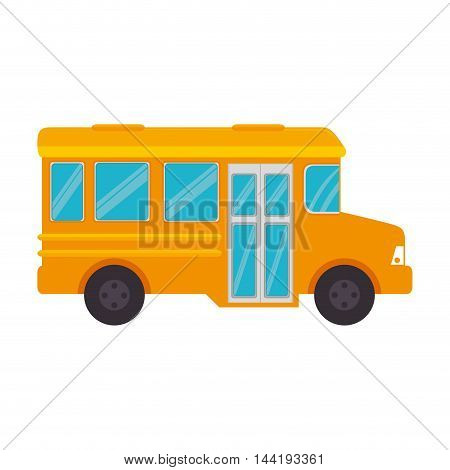 transport vehicle bus school travel transportation vector illustration