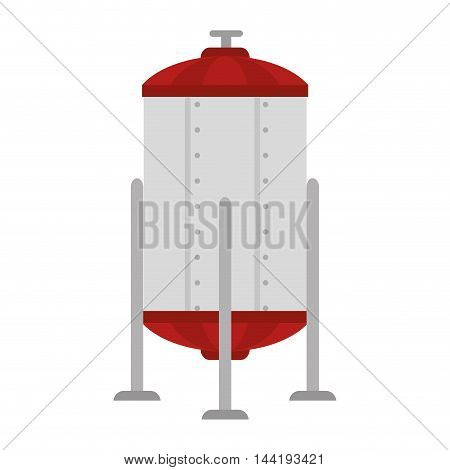 boiler structure factory and industry plant equipment industrial vector illustration