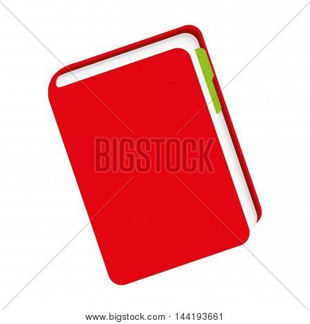 education and knowledge red book object vector illustration