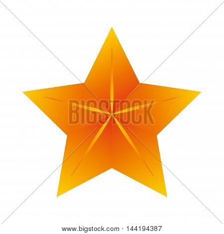 star gold shiny decoration sign object symbol vector illustration