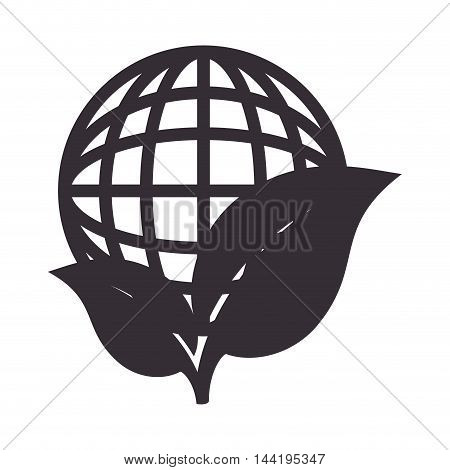 plant nature ecology global enviromental network vector illustration