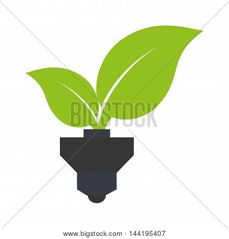 leaves plant plug ecology nature enviromental vector illustration