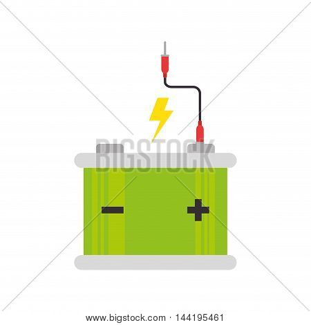 battery power energy electricity generator device vector illustration