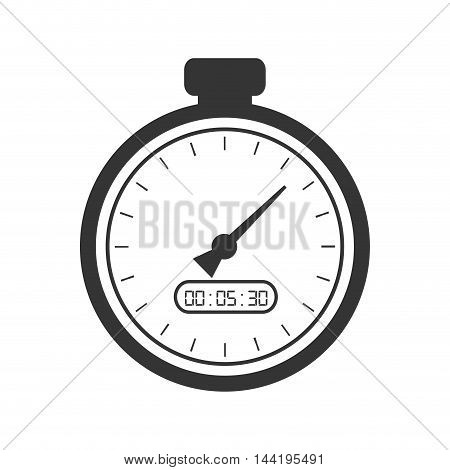 chronometer time counter clock device sport training vector illustration