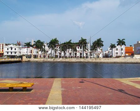cartagena, palmeras, centro de eventos, mar, vista general