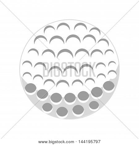 golf white ball sport game club activity vector illustration