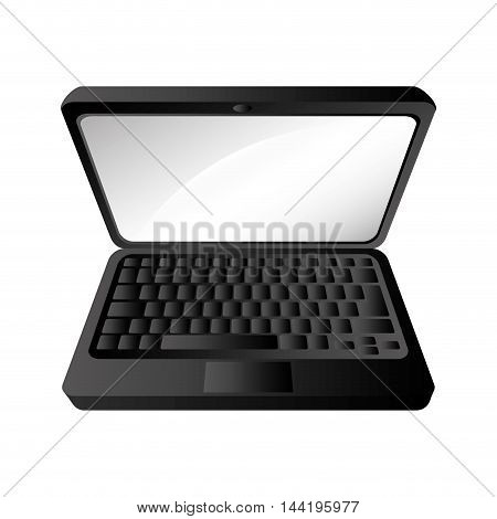 laptop screen technology computer gadget device portable vector illustration