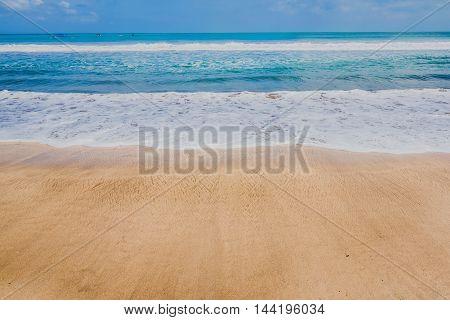 beautiful of Kuta beach in Bali Indonesia