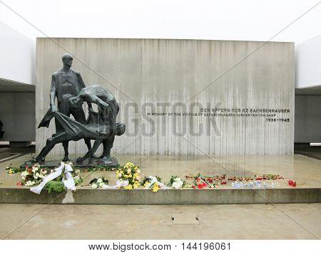 Oranienburg Germany - November 8 2010: Sachsenhausen National Memorial in Oranienburg Germany.