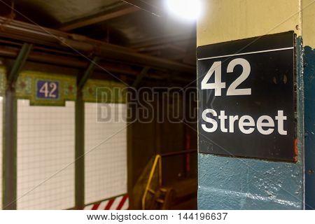 42Nd Street Subway - Nyc