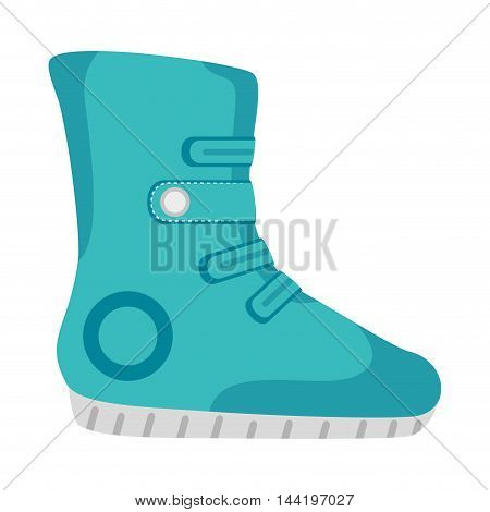 Winter boots sport and fashion snow wear equipment vector illustration
