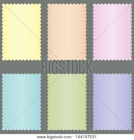 set of greeting cards design. Vector set.