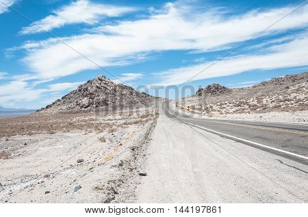 The route towards Death Valley National Park, California