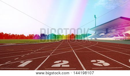 Ground Running, runnig sport, racetrack stadium run